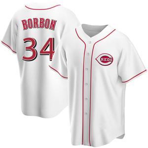 Men's Pedro Borbon Cincinnati Reds Replica White Home Jersey